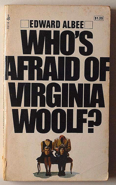 an analysis of the analogies in whos afraid of virginia woolf a play by edward albee By writing a play, with its inherent tension between actors and audience, rather  than a novel or a short story, edward albee uses his genre to illustrate one of.